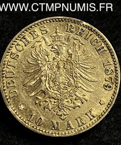 ALLEMAGNE BADEN 10 MARK OR FREDERICK 1879 G