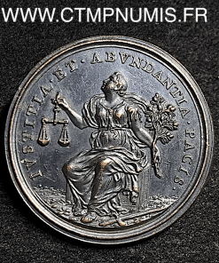 MEDAILLE BRONZE INNOCENT XII R/ JUSTICE PAIX