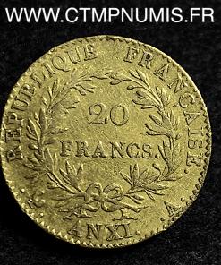 20 FRANCS OR BONAPARTE CONSUL AN XI A PARIS
