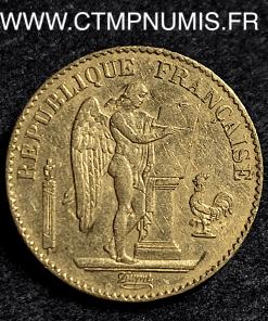 20 FRANCS OR GENIE III° REPUBLIQUE 1888 PARIS