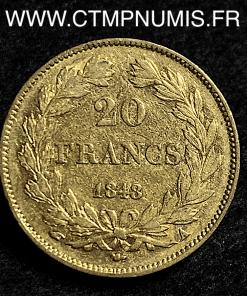 20 FRANCS OR LOUIS PHILIPPE I° 1848 A PARIS