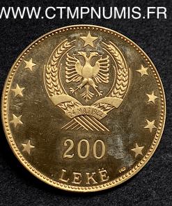 ALBANIE 200 LEKE OR BUTRINTI 1968 SPL 39,49 gr