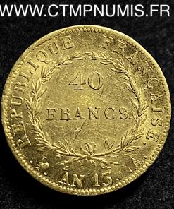 40 FRANCS OR NAPOLEON I° AN 13 A PARIS
