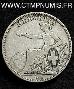 SUISSE 2 FRANCS ARGENT HELVETIA 1860