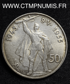 TCHECOSLOVAQUIE 50 KORUN 1955 SUP