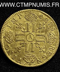 LOUIS XIV LOUIS D'OR MECHE LONGUE 1649 PARIS