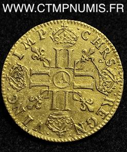 LOUIS XIV LOUIS D'OR MECHE LONGUE 1652 PARIS