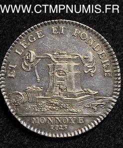 JETON ARGENT LOUIS XV LA MONNAIE 1723 SUP