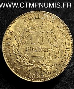 10 FRANCS OR CERES III° REPUBLIQUE 1895 PARIS