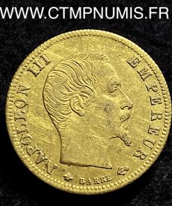 5 FRANCS OR NAPOLEON III 1859 BB STRASBOURG