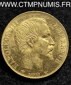20 FRANCS OR NAPOLEON III TETE NUE 1855 PARIS