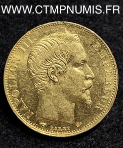 20 FRANCS OR NAPOLEON III TETE NUE 1857 A PARIS