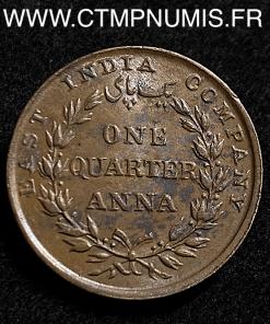 INDES BRITANIQUE 1/4 ANNA BRONZE 1835 SUP