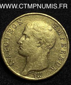 40 FRANCS OR NAPOLEON I° TETE NUE 1806 PARIS