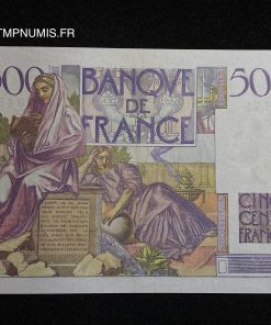 BILLET 500 FRANCS CHATEAUBRIAND DU 7.02.1946
