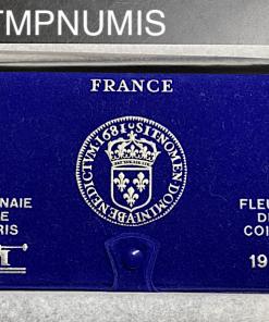 SERIE FDC MONNAIES DE PARIS 1981 AVEC BOITE