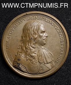 MEDAILLE HENRI TOUR D'AUVERGNE TURENNE 1683