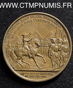 MEDAILLE CONSULAT BONAPARTE EGYPTE 1798