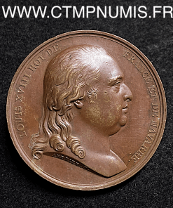 MEDAILLE LOUIS XVIII RETOUR D'EXIL 24 AVRIL 1814